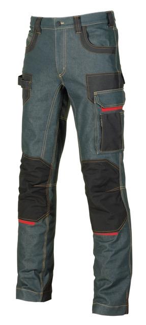 Platinum: pantalone tecnico da lavoro in jeans elasticizzato
